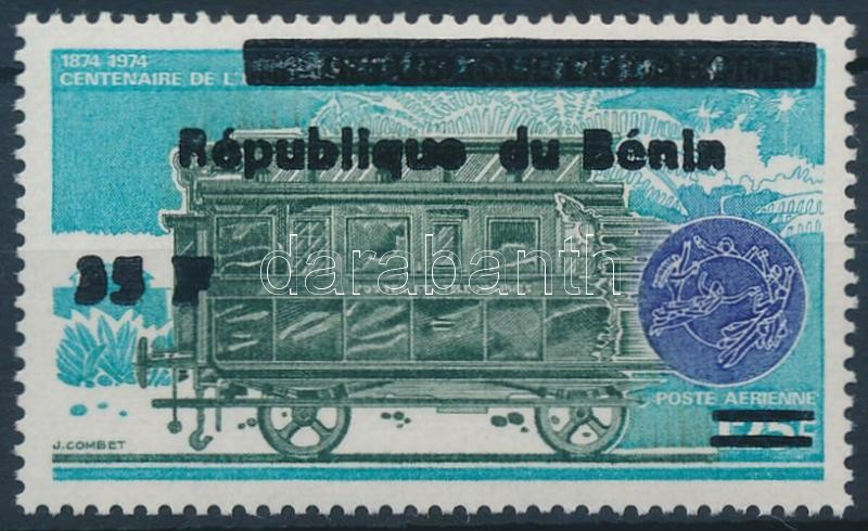 Mozdony felülnyomott bélyeg, Locomotive overprinted stamp