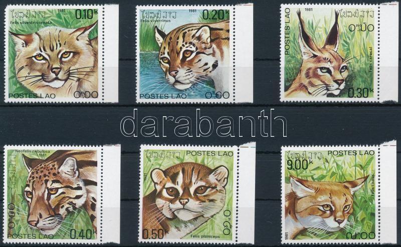 Predatory Cats margin set (0,10K corner damage), Ragadozó macskák ívszéli sor (0,10K sarokhiba)