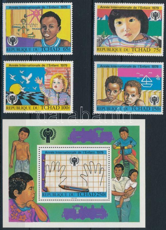 International Children Year set + block, Nemzetközi Gyermekév sor + blokk