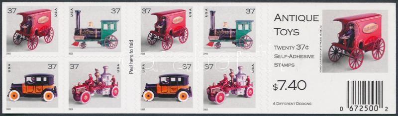 Old toys stamp booklet, Régi játékok bélyegfüzet