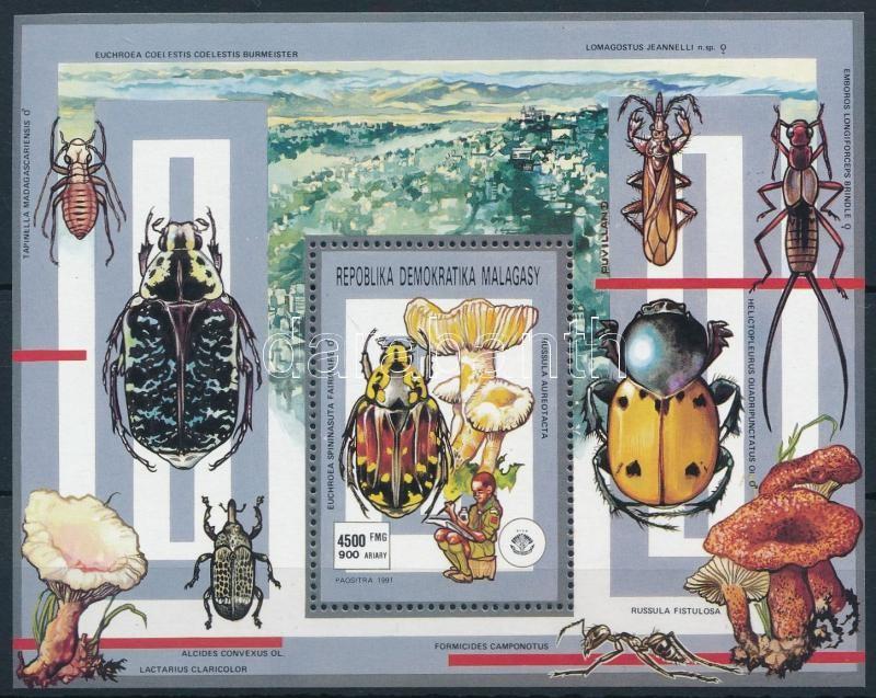 Scouts, insects and fungi block, Cserkész, rovarok és gombák blokk