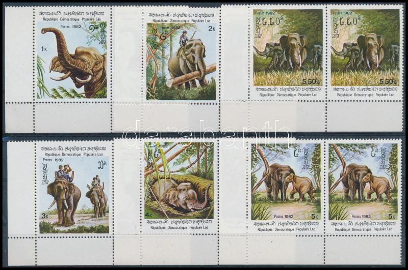 Elefántok sor párokban, Elephants set in pairs