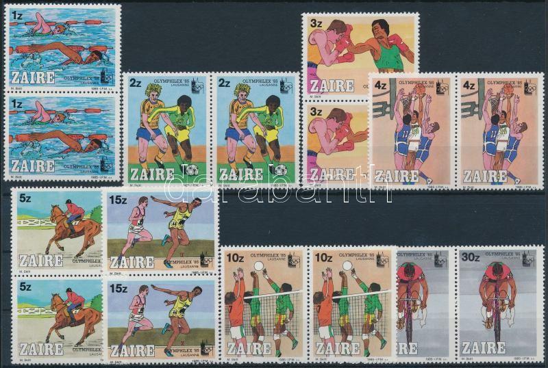 OLYMPHILEX bélyegkiállítás 85 sor párokban, OLYMPHILEX Stamp Exhibition 85 set on pairs