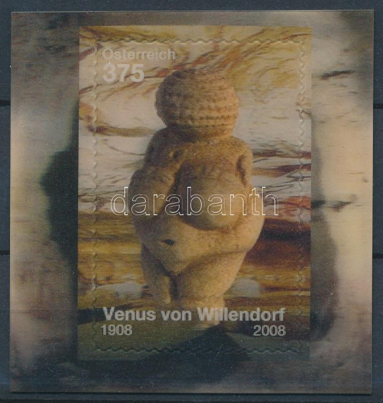 Venus of Willendorf three-dimensional self-adhesive block, Willendorfi Vénusz 3 dimenziós öntapadós blokk
