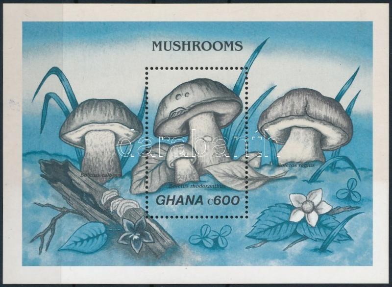Mushroom block colour-proof, Gombák blokk színváltozat