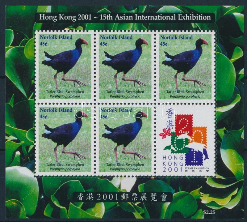 International Stamp Exhibition HONG KONG'01 minisheet, Nemzetközi Bélyegkiállítás HONG KONG´01 kisív