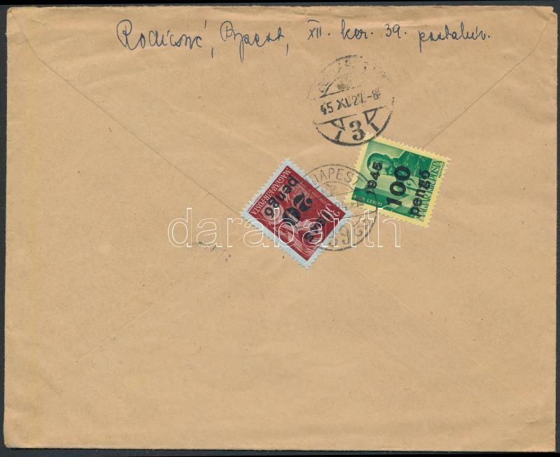 Inflation cover, (5. díjszabás) Távolsági levél tartalommal Kisegítő 20P/30f + 100P/12f bérmentesítéssel
