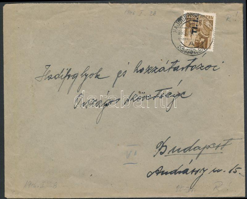 (6. díjszabás) Távolsági levél Betűs Tl.I./10f bérmentesítéssel, Inflation cover