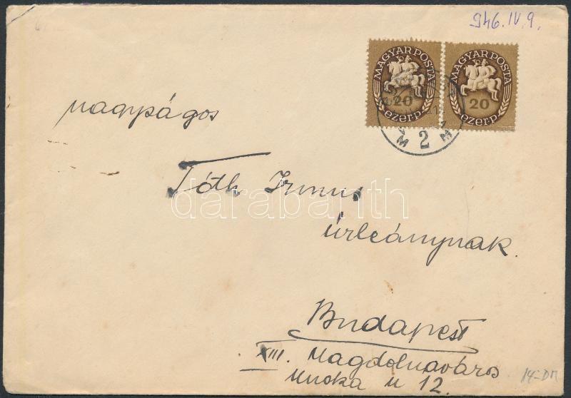Inflation cover, (11. díjszabás) Helyi levél Lovasfutár 2x20eP bérmentesítéssel