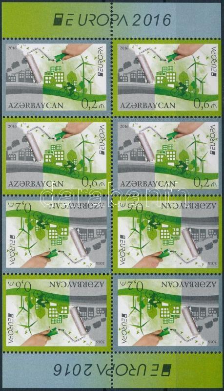 Europa CEPT, Environmental Awareness stamp-booklet sheet, Europa CEPT, Környezettudatosság bélyegfüzetlap