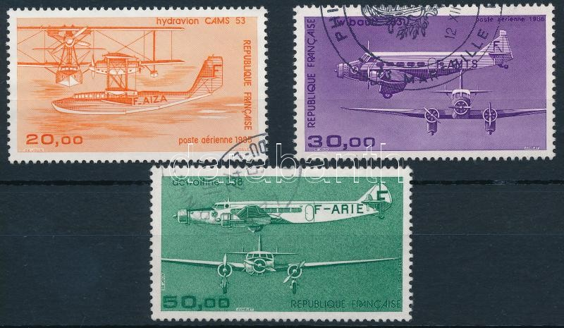 1985-1987 Planes 3 stamps, 1985-1987 Repülő 3 érték