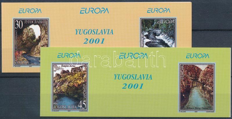 Europa CEPT, Éltető víz 2 db klf bélyegfüzet, Europa CEPT, Life-giving water 2 diff stampbooklets