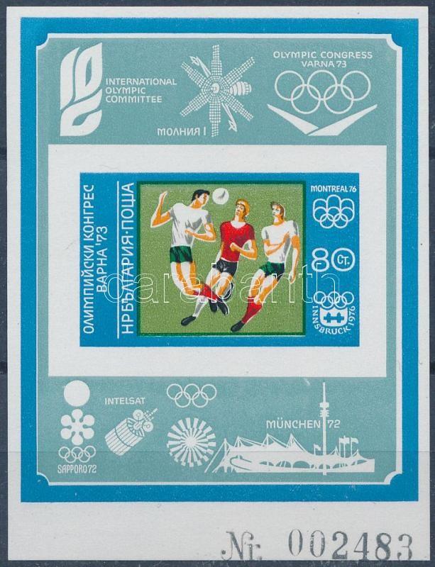 Summer Olympics, Munich imperf block, Nyári olimpia, München vágott blokk