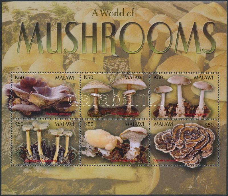 Mushrooms minisheet, Gombák kisív