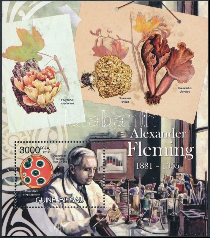 Alexander Fleming, mushrooms block, Alexander Fleming, gombák blokk