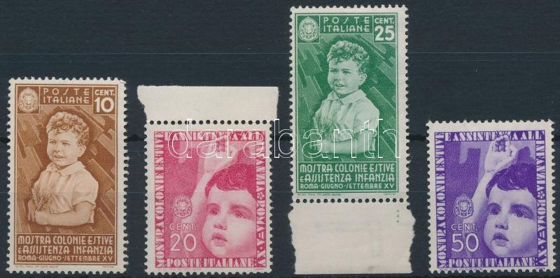 Children 4 stamps, Gyermekek 4 érték