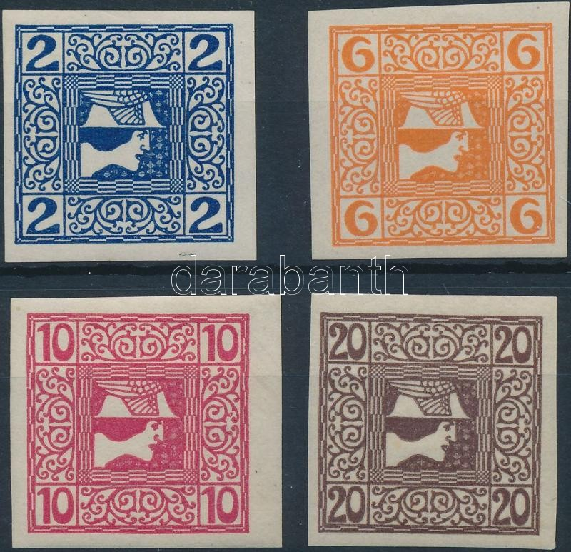 Newspaper stamp set (157**, 159**), Hírlapbélyeg sor (157**, 159**)