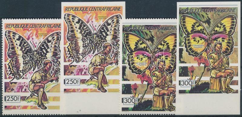 Butterflies (I) 4 value, Lepkék (I) 4 érték