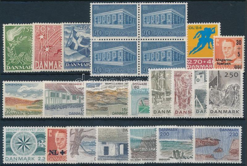 1947-1984 20 diff stamps + block of 4, 1947-1984 20 klf bélyeg + 4-es tömb