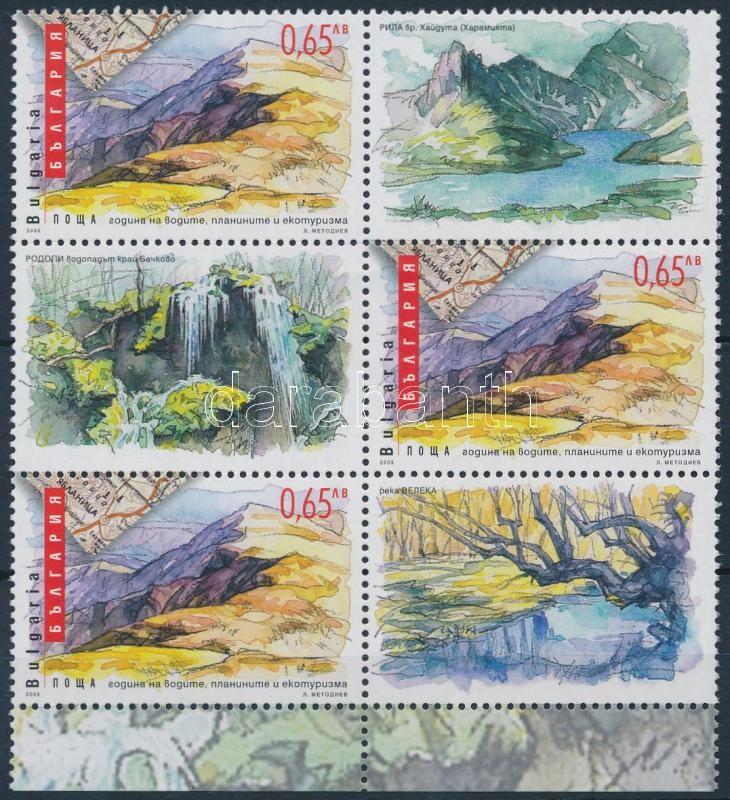 Landscapes coupon block of 6, Tájak szelvényes 6-os tömb