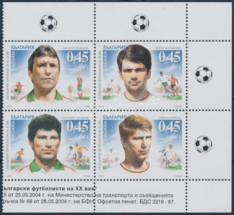 Footballers corner block of 4, Labdarúgók ívsarki 4-es tömb