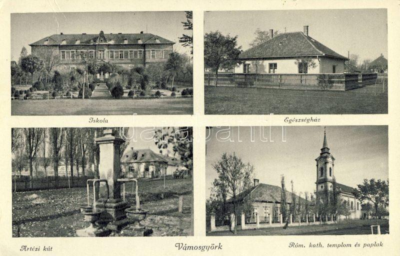 Vámosgyörk, iskola, egészségház, Artézi kút, Római katolikus templom és paplak