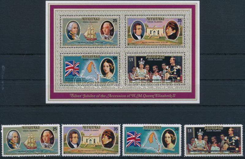 Elizabeth II set + block, II. Erzsébet sor + blokk