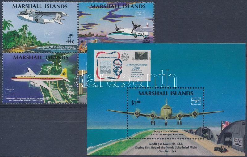 International Stamp Exhibition AMERIPEX '86 block of 4 + block, Nemzetközi Bélyegkiállítás AMERIPEX '86 4-es tömb + blokk