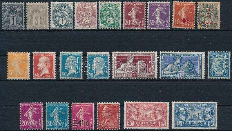 France 1877-1927 22 stamps, Franciaország 1877-1927 22 db bélyeg