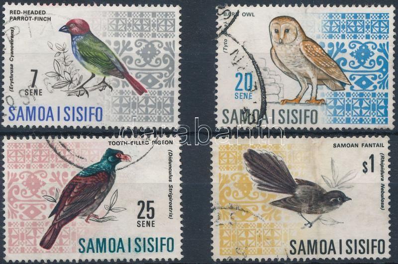 Birds 4 stamps, Madarak 4 érték