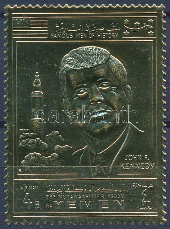 John F. Kennedy golden foil, John F. Kennedy aranyfóliás