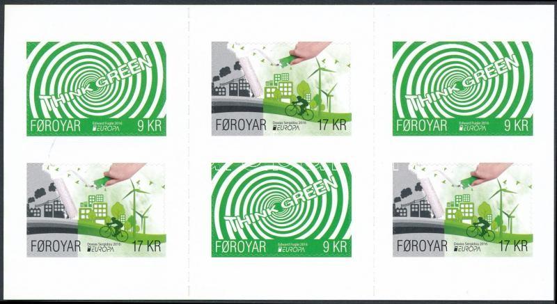 Europa CEPT, Environmental Awareness self-adhesive stamp-booklet, Europa CEPT, Környezettudatosság öntapadós bélyegfüzet