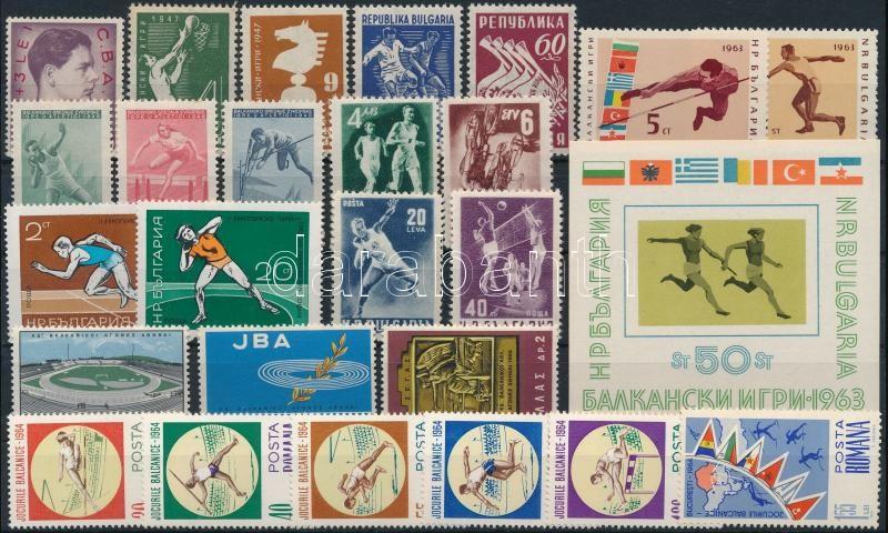 Sport 25 stamps + 1 block, Sport motívum 25 db bélyeg és 1 blokk