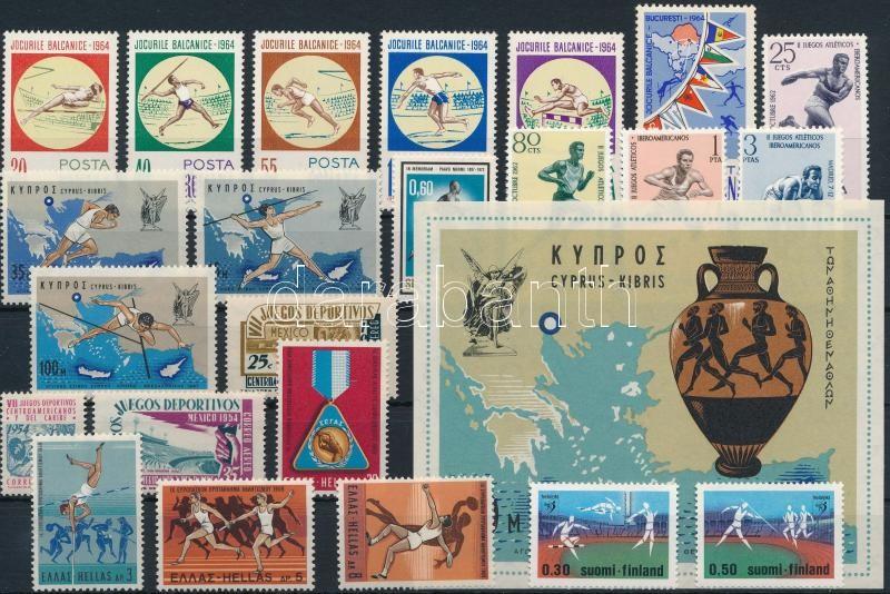 Sport motívum 23 db bélyeg és 1 blokk, Sport 23 stamps + 1 block