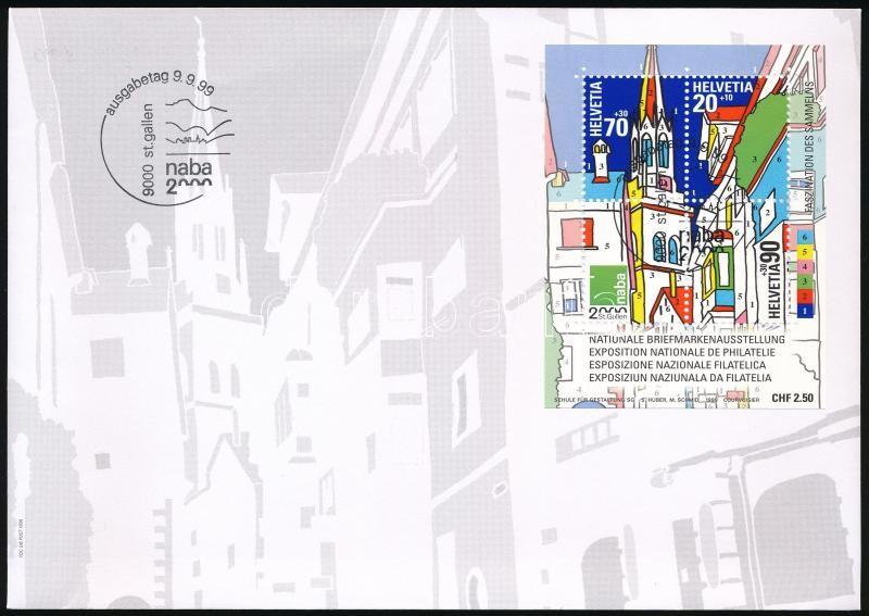 International Stamp Exhibition block on FDC, Nemzetközi Bélyegkiállítás blokk FDC-n