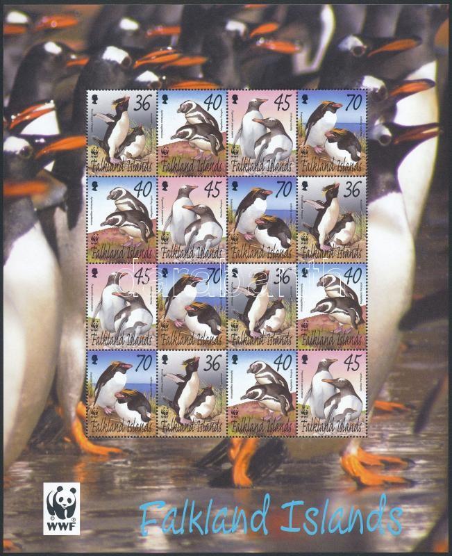 WWF Penguin mini sheet, WWF: Pingvin kisív
