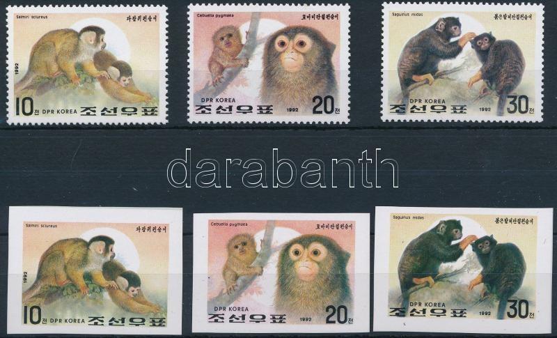 Monkey perf and imperf set, Majom fogazott és vágott sor