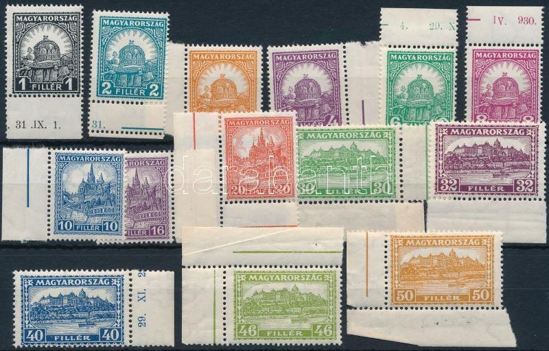 Pengő-fillér (II) A set  (15.000) (small creases), Pengő-fillér (II) A sor (15.000) (apró ráncok / small creases)