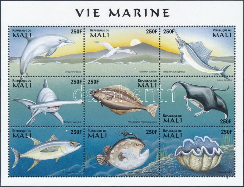 Marine animals minisheet, Tengeri állatok kisív