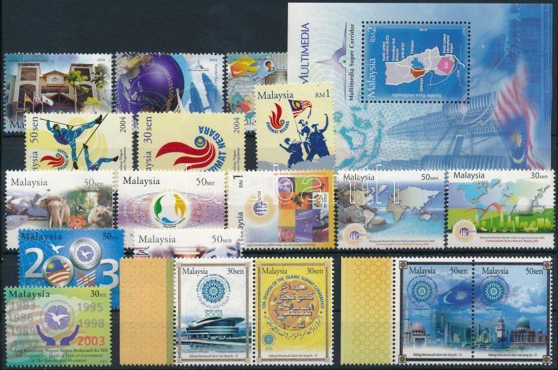 2003-2004 18 stamps + 1 block, 2003-2004 18 db bélyeg és 1 blokk