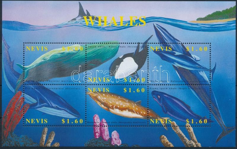 Whales minisheet, Bálnák kisív