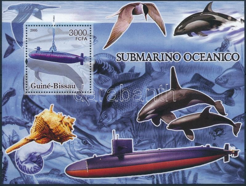 Submarines and whales block, Tengeralattjárók és bálnák blokk