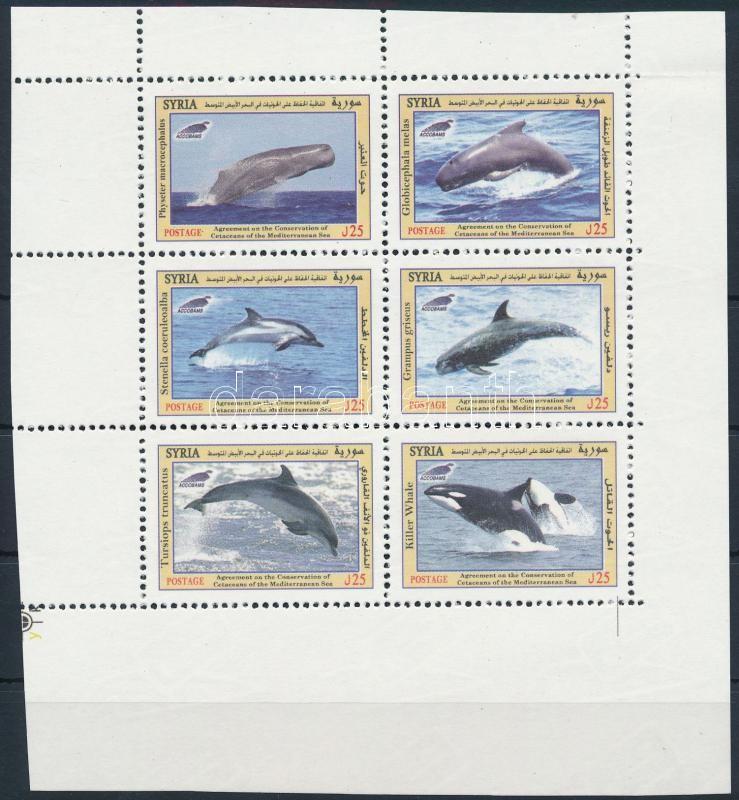 Whales sheet of 6, Bálnák hatos kisív