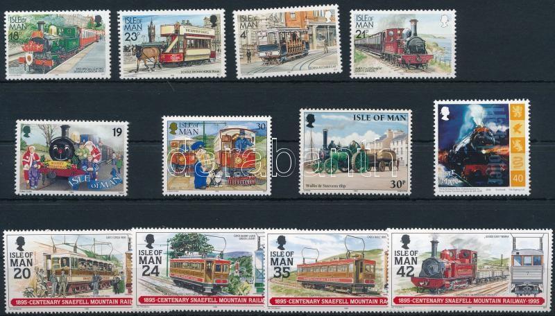 1991-2004 Railway 3 sets + 4 stamps, 1991-2004 Vasút motívum 3 klf sor + 4 klf önálló érték
