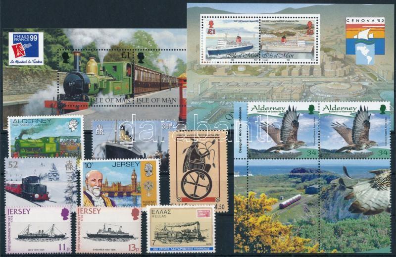 1973-2012 Transport 2 blocks + 10 stamps, 1973-2012 Közlekedés motívum 2 db blokk + 10 klf önálló érték
