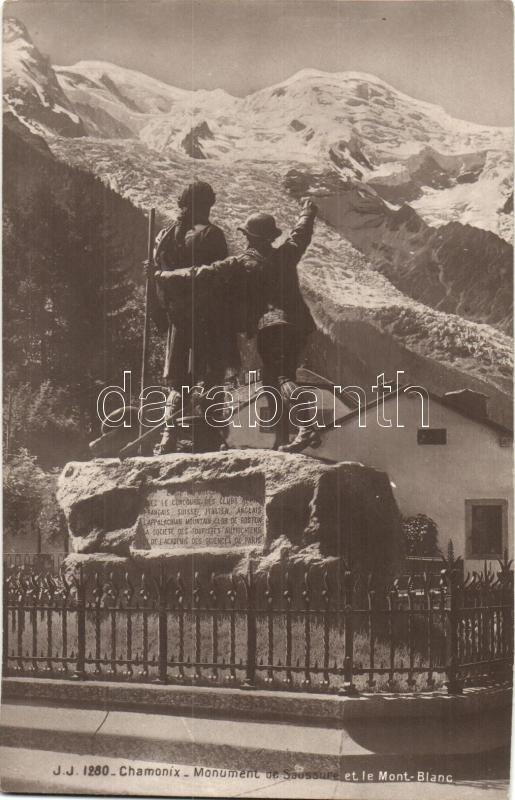Chamonix, Monument de Saussure, Mont Blanc