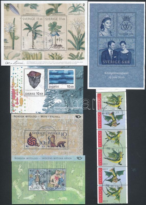 2000-2010 6 blocks and stamp-booklet sheet, 2000-2010 6 klf blokk ill. bélyegfüzetlap