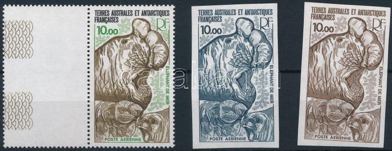 Seal closing stamp + color proofs, Fóka sor záróérték + színpróbák