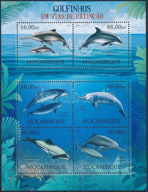 Dolphins mini sheet, Delfinek kisív