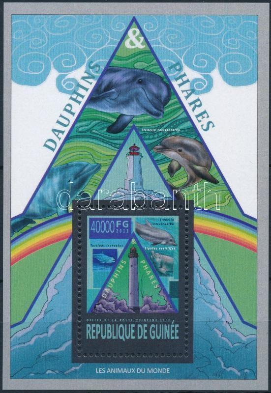 Dolphins and lighthouses block, Delfinek és világítótornyok blokk